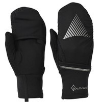 TrailHeads Convertible Running Gloves - black / reflective