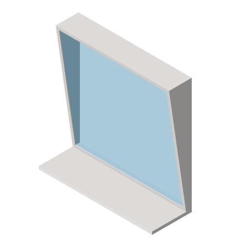 "ASI (10-0537-1630) Fixed Tilt Mirror with Shelf - 16""w x 30""h"