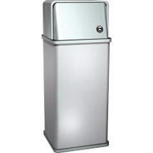 ASI (10-0810) Waste Receptacle w/Swing Top (13 gal.) - Free Standing