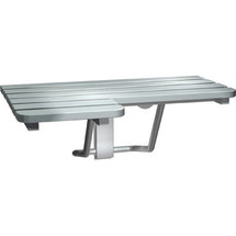 ASI (10-8208-L) Folding Shower Seat Stainless Steel - Left Hand