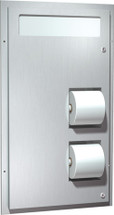 ASI (10-0484-HC) Dual Access Seat Cover and Toilet Tissue Dispenser