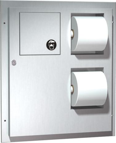 ASI (10-04813) Dual Access Toilet Tissue Dispenser with Napkin Disposal