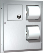 ASI (10-04813) Dual Access Toilet Tissue Dispenser with Napkin Disposal