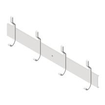 "ASI (10-1307-4) Utility Hook Strip, 4 Hooks, 36"" (914mm) Long"