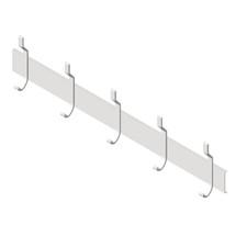 "ASI (10-1307-5) Utility Hook Strip, 5 Hooks, 46"" (1168mm) Long"