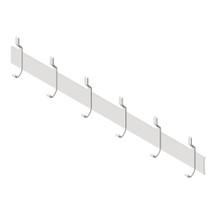 "ASI (10-1307-6) Utility Hook Strip, 6 Hooks, 56"" (1422mm) Long"