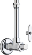 Chicago Faucets (1010-1003-3ABCP)  Angle Stop Fitting with Supply Tube and Loose Key