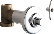 Chicago Faucets (1771-ABCP)  Concealed Straight Valve with Loose Key