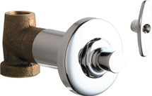 Chicago Faucets (1771-CABCP)  Concealed Straight Valve with Loose Key