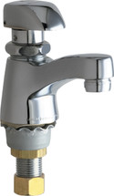 Chicago Faucets (335-E12COLDABCP)  Single Supply Metering Sink Faucet