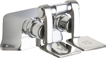 Chicago Faucets (625-ABCP)  Hot and Cold Water Pedal Box with Short Pedals