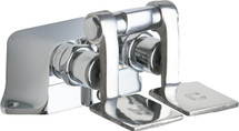 Chicago Faucets (625-SLOABCP)  Hot and Cold Water Pedal Box with Short Pedals