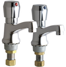 Chicago Faucets (333-665PRABCP)  Single Supply Metering Sink Faucet