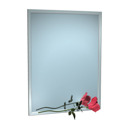 """ASI (10-0600-10232) Mirror - Stainless Steel, Inter-Lok Angle Frame - Plate Glass - 102""""W X 32""""H"""