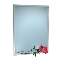 "ASI (10-0600-10234) Mirror - Stainless Steel, Inter-Lok Angle Frame - Plate Glass - 102""W X 34""H"
