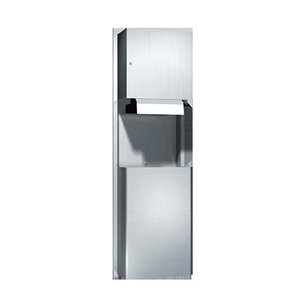 ASI (10-046924AC) Automatic Roll Paper Towel Dispenser & Waste Receptacle, 110-240VAC-Rec.
