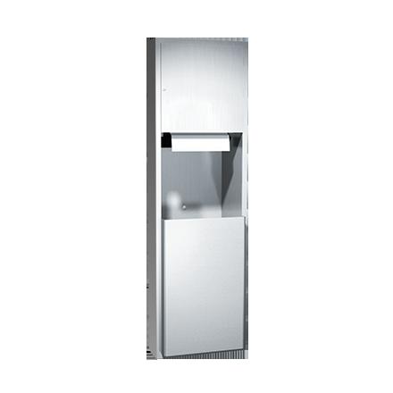 ASI (10-04692AC-6) Automatic Roll Paper Towel Dispenser & Waste Receptacle, 110-240VAC-Semi Rec.