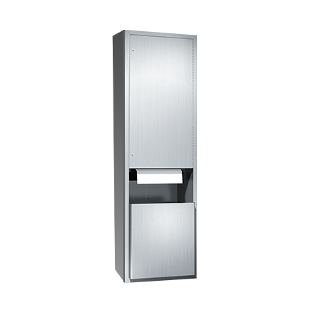 ASI (10-046921AC-9) Automatic Roll Paper Towel Dispenser & Waste Receptacle, 110-240VAC-Surf. Mtd.