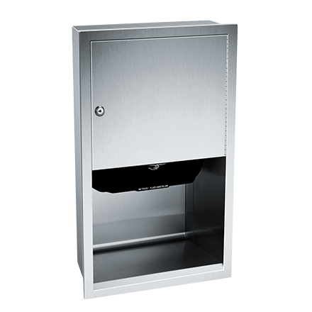 ASI (10-045210A) Automatic Roll Paper Towel Dispenser, Battery Operated - Recessed