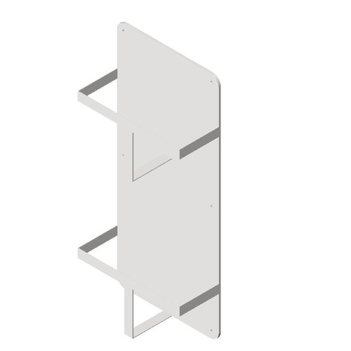 ASI (10-0559) Double Bed Pan/Urinal Holder - Surface Mounted