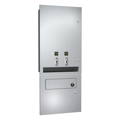 ASI (10-04684-TM-F) Napkin/Tampon Vendor & Disposal - Free operation - Recessed
