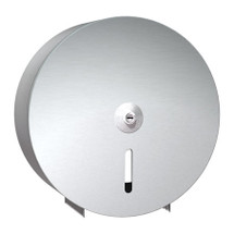 """ASI (10-0042) Single 9"""" Roll Toilet Paper Dispenser - Stainless Steel - Round"""