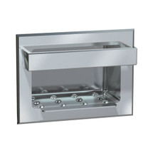 ASI (10-0398) Soap Dish with Bar, Recessed, Wet Wall Installation, Stainless Steel