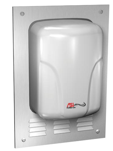 ASI (10-0119-93) TURBO-Dri Semi-Recessed Kit for ADA Compliance - Satin Stainless Steel