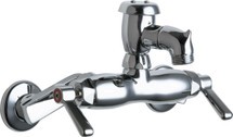 Chicago Faucets (305-VBCP) Hot and Cold Water Sink Faucet