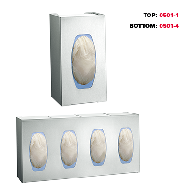 ASI (10-0501-4) Surgical Glove Dispenser - For 4 Boxes - Surface Mounted