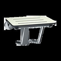 "ASI (10-8203-20) Folding Shower Seat - Rectangular, ADA - Solid Phenolic, White - Compact 20""W"
