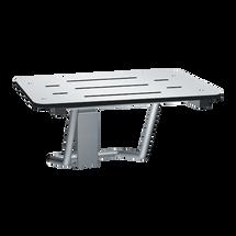 "ASI (10-8203-28) Folding Shower Seat - Rectangular, ADA - Solid Phenolic, White - 28""W"