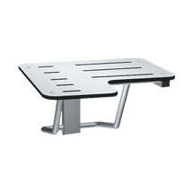 """ASI (10-8206-R-28) Folding Shower Seat - L-Shaped, Right Hand, ADA - Solid Phenolic, White - 28""""W"""