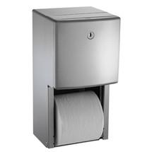ASI (10-20031) Twin Hide-a-Roll Toilet Tissue Dispenser, Semi-Recessed
