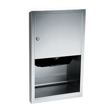 ASI (10-045210AC-6) Automatic Roll Paper Towel Dispenser, 1(10-240VAC-Semi-Recessed