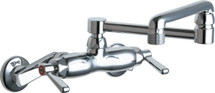 Chicago Faucets (445-DJ13E2CP) Hot and Cold Water Sink Faucet