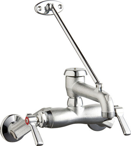 Chicago Faucets (445-VBRRCF) Hot and Cold Water Sink Faucet