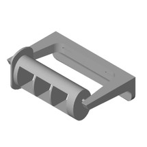 ASI (10-0263-12) Surface Mounted Toilet Papper Holder with Theft Resistant Spindle