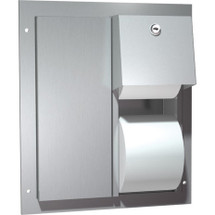 ASI (10-0032) Partition Mounted Twin Hide-A-Roll Toilet Tissue Dispenser
