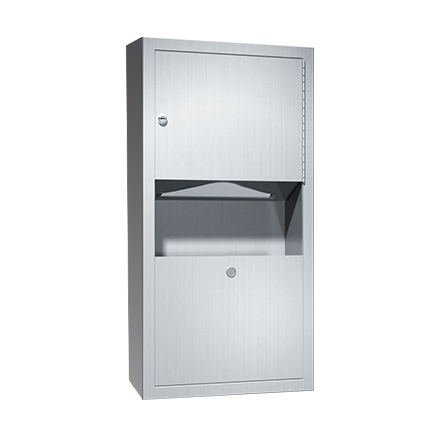 ASI (10-0462-AD-9) Surface Mounted Paper Towel Dispenser & Waste Receptacle
