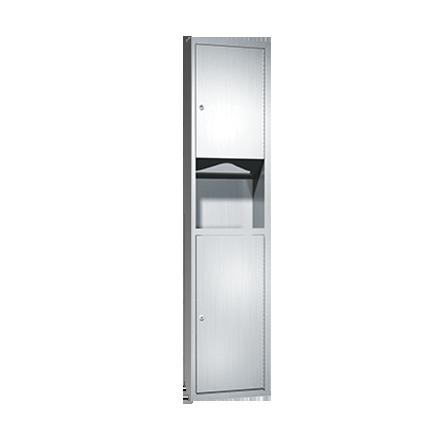 ASI (10-0467-2) Semi Recessed Paper Towel Dispenser & Waste Receptacle