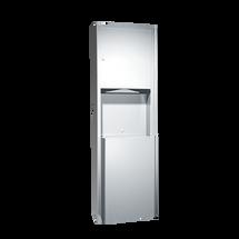 ASI (10-0469-2) Semi Recessed Paper Towel Dispenser & Waste Receptacle