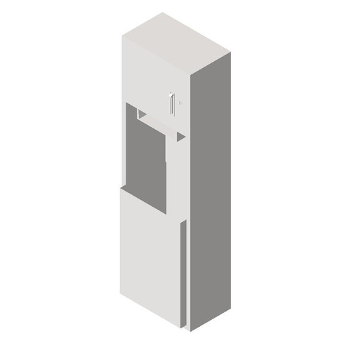 ASI (10-04692-9) Surface Mounted Roll Paper Towel Dispenser and Waste Receptacle
