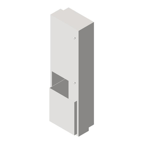 ASI (10-046921-6) Semi-Recessed Mounted Roll Paper Towel Dispenser and Waste Receptacle