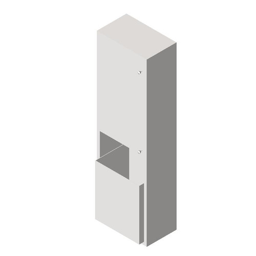 ASI (10-046921-9) Surface Mounted Dual Roll Paper Towel Dispenser and Disposal