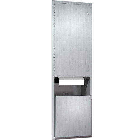 ASI (10-046921A) Recess Mounted Automatic Roll Paper Towel Dispenser and Waste Receptacle