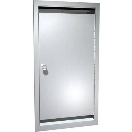 ASI (10-0551) Recessed Bed Pan and Urinal Bottle Cabinet