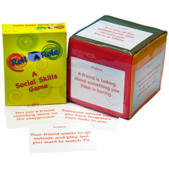 Roll-A-Role: Social Skills Game Cards & 3 Cubes