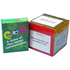 Roll-A-Role: Non Verbal Communication Game Cards & 3 Cubes