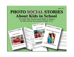 Photo Social Stories Cards About Kids in School Card Game